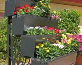 Mobile-gro-four-tier-steel-planter-portable-urban-gardening-container